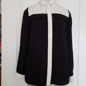 Next Black and white blouse